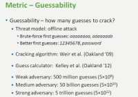 Guessability metric explained