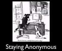 Stick to anonymity online