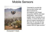 Increased mobility of sensors