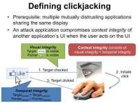 Basic essence of clickjacking