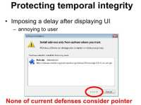 Temporal integrity protection
