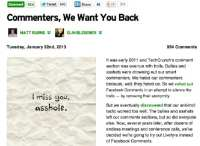 Commenters are wanted back