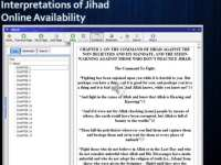Interpretations of Jihad online