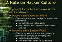 Differences in global hacker culture