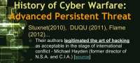Stuxnet, Duqu and Flame as viewed by Gen. Michael Hayden