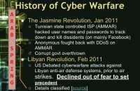 Role of cyber warfare in the Arab Spring