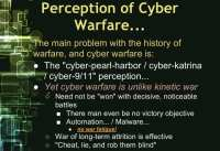 Differences between cyber warfare and kinetic war