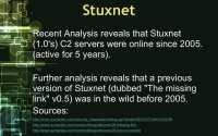 Stuxnet - older than previously thought
