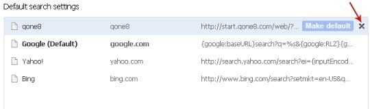 Remove Qone8 from search providers list
