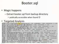 Analyzing booter.sql