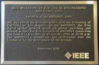 'Inception of the ARPANET' sign