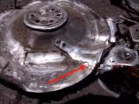 Read head welded to platter