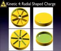 Radial shaped charge