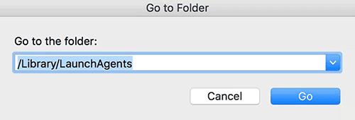 Go to Folder box