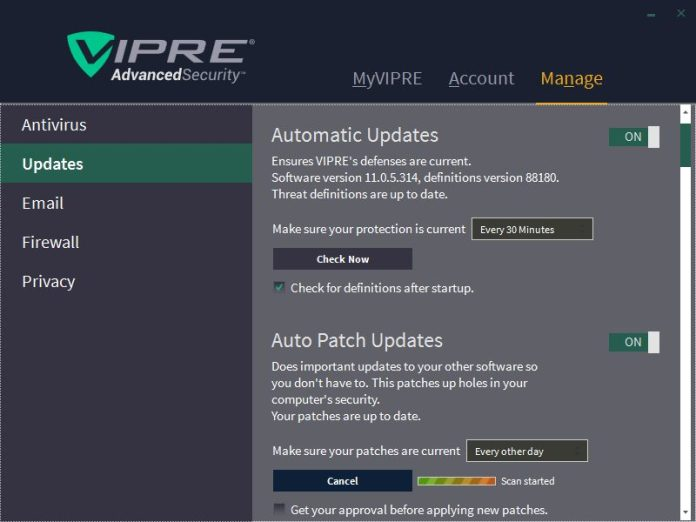 Auto Patch Updates looking for software patches