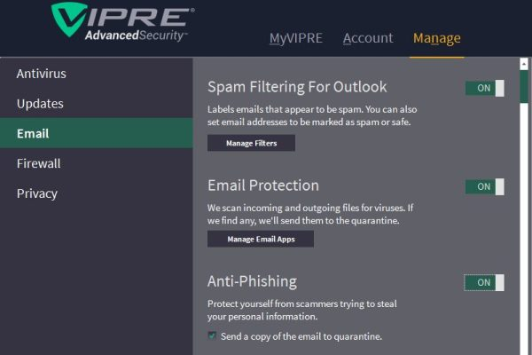 vipre-email-security-features