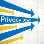 Arrows representing privacy laws converging
