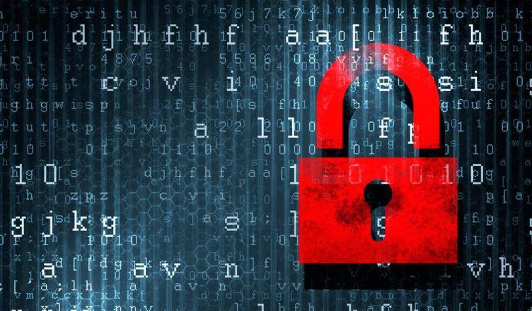 encoded lock graphic
