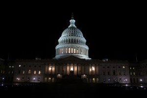 US Capitol Building nighttime