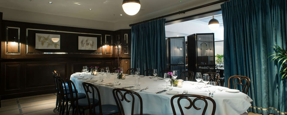 Galvin Brasserie Private Dining Room in Edinburgh