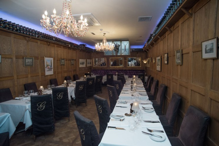 Griegs Mayfair Main Private Dining Room