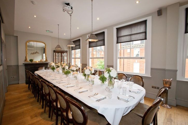Private Dining on the Second floor - Tom's Kitchen Chelsea London
