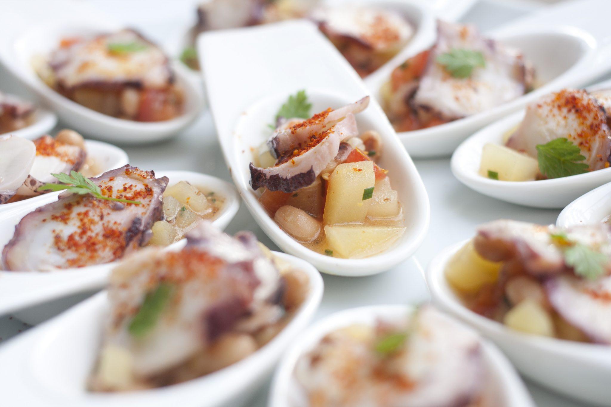 Pulpo tapas and potatoes