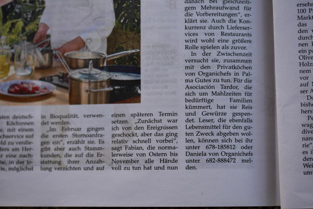 Kochen gegen Corona Artikel Mallorca Magazin