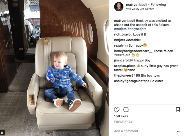 A four year old will only travel on a NetJets private jet