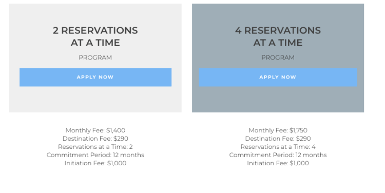 Tuxedo Air membership pricing for indivudals