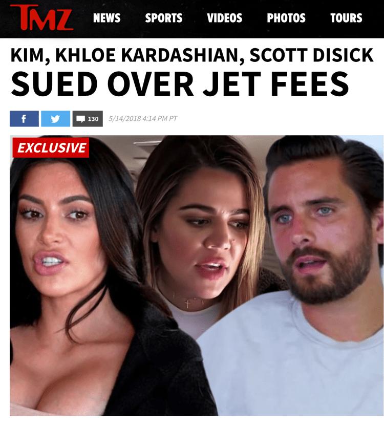 Kim Kardashian private jet