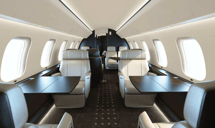 Global 7500 interior