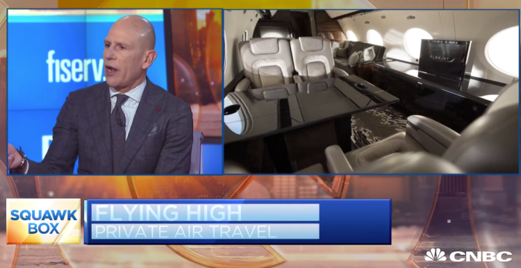 Flexjet CEO Mike Silvestro Squawk Box
