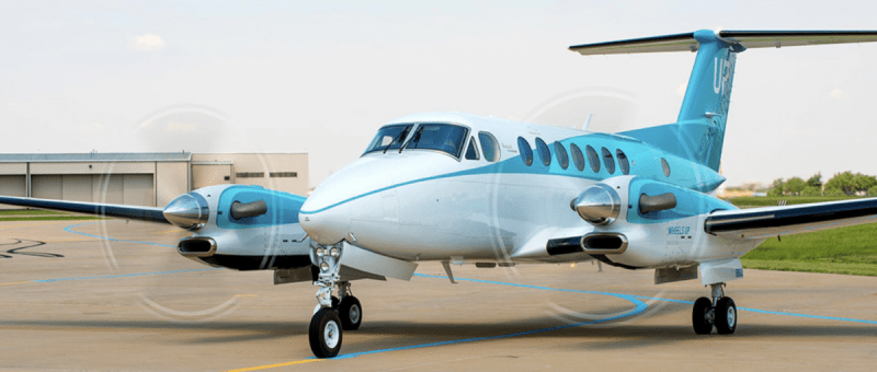 Wheels Up Teal King Air 350i