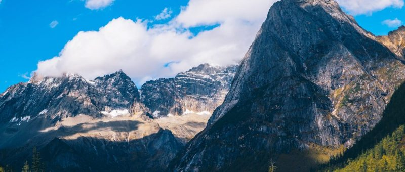 landscape photography of gray mountains