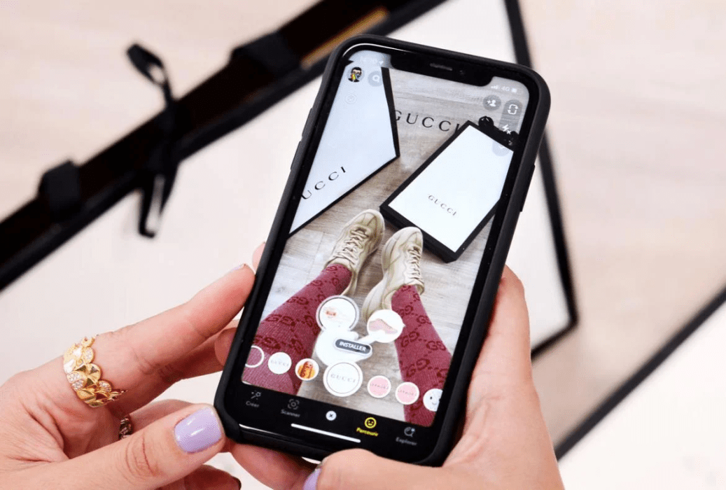 Gucci teams with Snapchat for AR filter that allow users to try and buy sneakers virtually