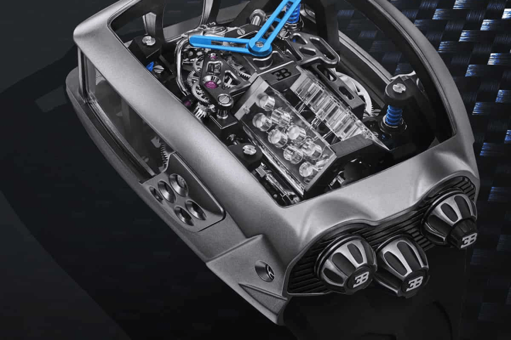 Jacob & Co.'s Bugatti Chiron Tourbillon Comes with a Tiny Working W16 Engine