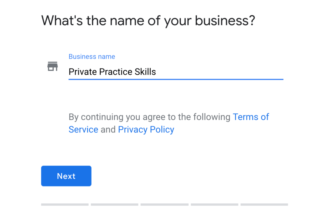 Google My Business for Private Practice step-by-step