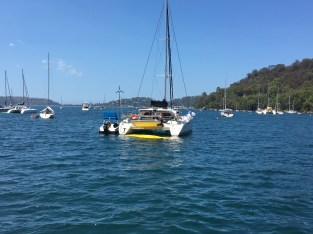 Out on Pittwater off Palmy
