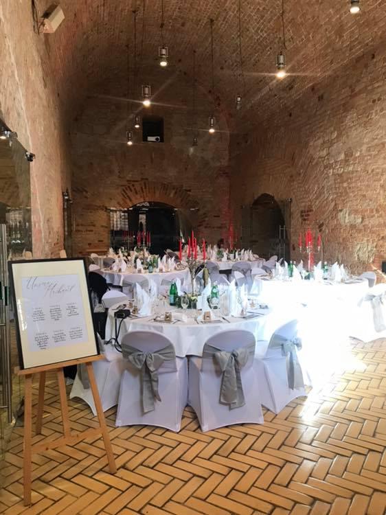 gedeckter Tisch beim Hochzeitscatering@Privatkoch.Berlin
