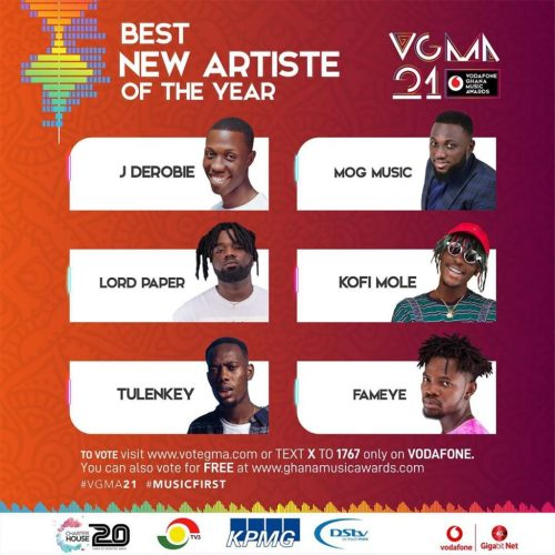 VGMA 2020: Best New Artiste of the Year(Fameye)