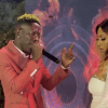 Shatta Wale performs 'Hol' it' with Hajia 4reall at her new song launch