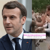 French President, Emmanuel Macron Has Been Slapped By A Man In The Face (Watch Video)