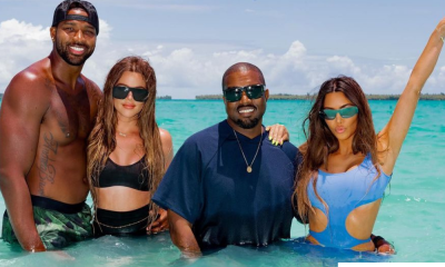 Kim Kardashian Shares Adorable Photo of Kanye, Herself And Their Kids As She Wishes Her Ex-Husband A Happy Birthday