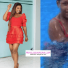 Berla Mundi Flaunts Soft Body In A Crazy Red Bikini, Leaves Fans Excited As She Goes Swimming – Watch Video