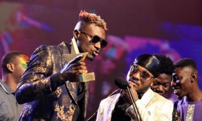 Keche winning the best group of the year at the 22ND edition of the VGMA