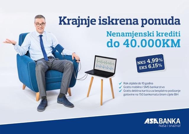 Nova Kampanja Za Nenamjenske Kredite ASA Banke