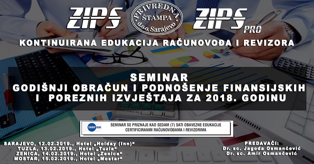 Novi Ciklus ZIPSpro Seminara Počinje 12. Februara U Sarajevu