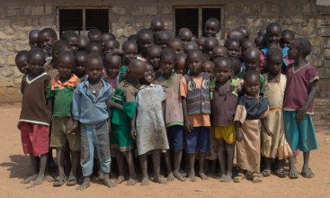 Class photo, Naisunyai Primary School, West Gate Community Conservancy (Samburu tribe)