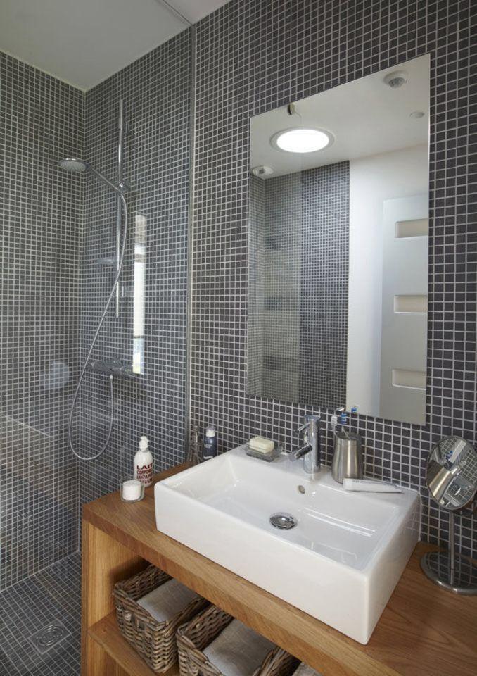 de la mosaique dans une salle de bains